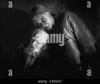 Goesta Ekman and Emil Jannings in the movie 'Faust', 1926 - Stock Photo