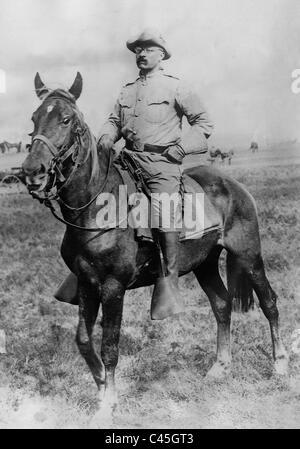Theodore Roosevelt in the Spanish-American War, 1898 - Stock Photo