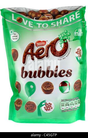 Bag of Nestle Aero bubbles - Stock Photo