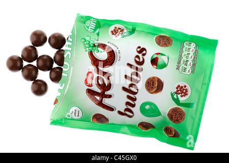 Opened bag of Nestle Aero bubbles - Stock Photo