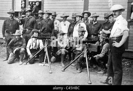 Volunteer Cavalry Regiment of Theodore Roosevelt, 1898 - Stock Photo