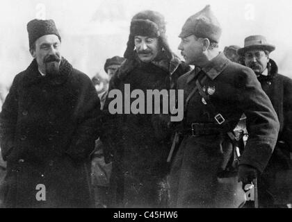 Josef Stalin at a celebration of the Red Army in Moscow, 1928 - Stock Photo