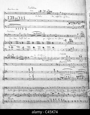Ludwig van Beethoven 's 9th Symphony - Beginning of 'An die