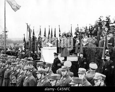 Rudolf Hess at the opening of the Adolf Hitler's channel near Gliwice, 1939 - Stock Photo
