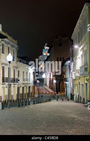 Night Images On The Outskirts Of Quito Neighborhood Well Known For High Crime Rate - Stock Photo