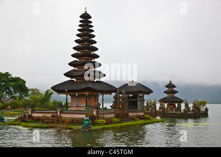 PURU ULUN DANU BRATAN is a 17th Century Hindu and Buddhist Temple Complex on DANAU BRATAN LAKE - BALI, INDONESIA - Stock Photo