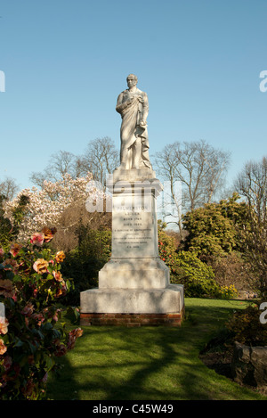 Statue of Palmerston in Palmerston Park Southampton Hampshire UK - Stock Photo