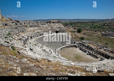 Turkey, Kusadasi, Ephesus, Theater at Miletus - Stock Photo