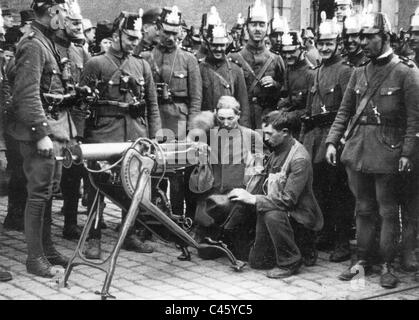 Communist uprising in Hamburg, 1923 - Stock Photo