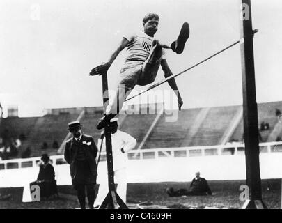 Ray Ewry at the Olympics in 1908 - Stock Photo