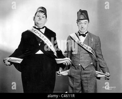 Oliver Hardy and Stan Laurel in 'Sons of the Desert', 1933 - Stock Photo