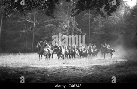 Russian troops in the battle of Tannenberg, 1914 - Stock Photo