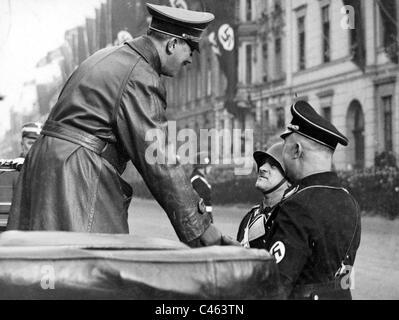 Adolf Hitler and Sepp Dietrich, 1937 - Stock Photo