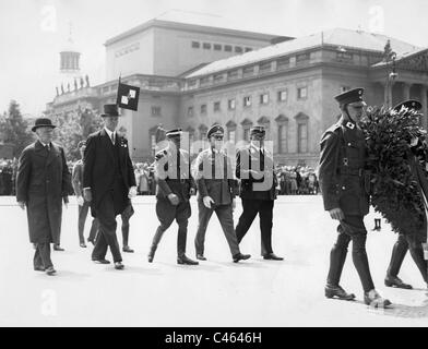 Carl Eduard of Saxe-Coburg and Gotha at a wreathe laying - Stock Photo