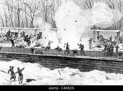 Assassination of Czar Alexander II, 1881 - Stock Photo