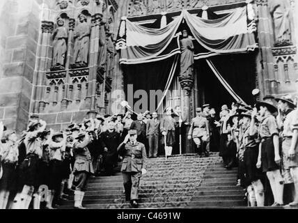 Henri Philippe Petain during the celebration of the Armistice, 1940 - Stock Photo