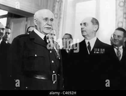 Henri Philippe Petain and William Leahy, 1941 - Stock Photo