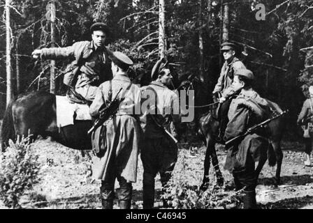 Second World War: Russian partisans in occupied Soviet Union - Stock Photo