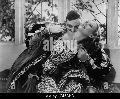 Charles Laughton and Wendy Barrie in 'The Private Life of Henry VIII', 1933