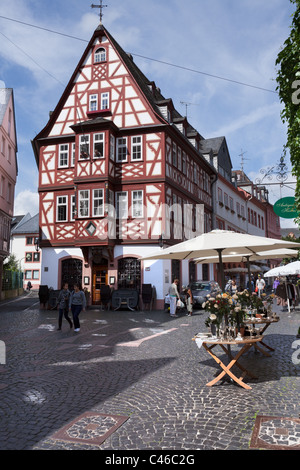 A small lane in Mainz's Altstadt (Old Town) area. Mainz. - Stock Photo