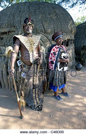 South Africa, zululand, Simunye, village chief - Stock Photo