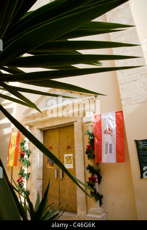 Photograph a church in Nazareth at Christmas - Stock Photo