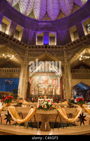 Photograph of christmas eve at the church of the annunciation in Nazareth - Stock Photo