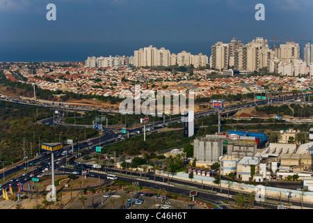 Aerial photograph of the city of Netanya - Stock Photo