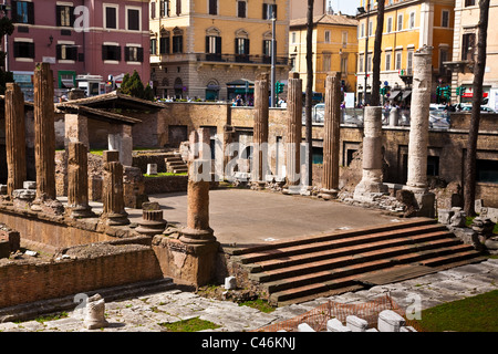 A sacred area in the centre of Rome, Italy - Stock Photo