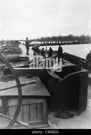 Second World War: German bridgehead at Kuban River, Taman Peninsula, 1943 - Stock Photo
