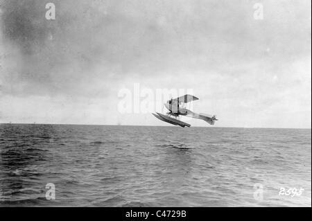 Starting German seaplane, 1917 - Stock Photo
