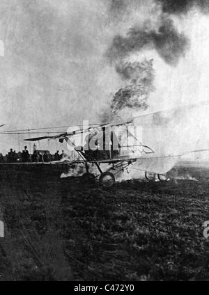 A shot down French plane, 1915 - Stock Photo