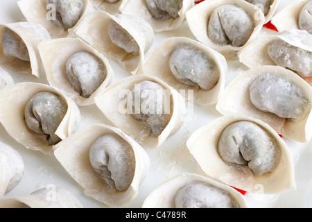 Chinese wonton close up shot - Stock Photo