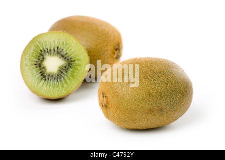 isolated kiwi on white background - Stock Photo