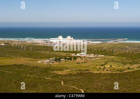 Aerial view of the Koeberg nuclear power station on the west coast north of Cape Town in South Africa. - Stock Photo