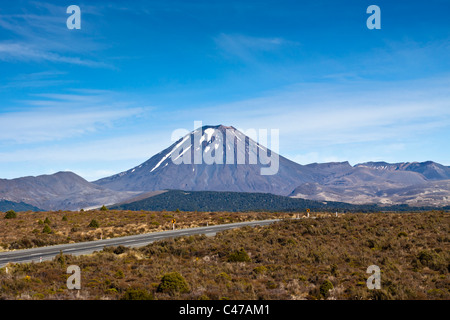 Mount Ngauruhoe in Tongariro National Park - New Zealand. - Stock Photo