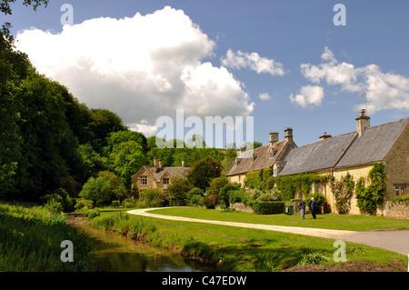 Upper Slaughter village, Gloucestershire, England, UK - Stock Photo