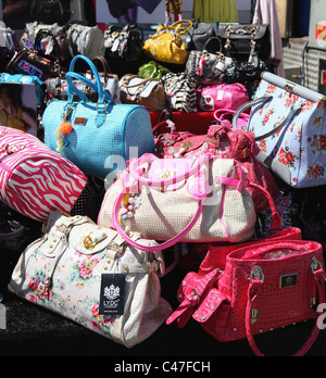 LYDC designer handbags for sale on a stall in the U.K. - Stock Photo