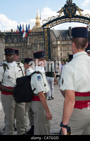 Paris, France, Public Events, National Day, Bastille Day, 14th of July,  French Soldiers, Invalides - Stock Photo