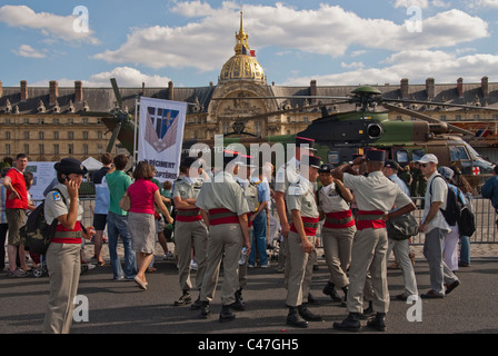 Paris, France, Public Events, National Day, Bastille Day, 14th of July,  French Soldiers, Military in Uniform with - Stock Photo