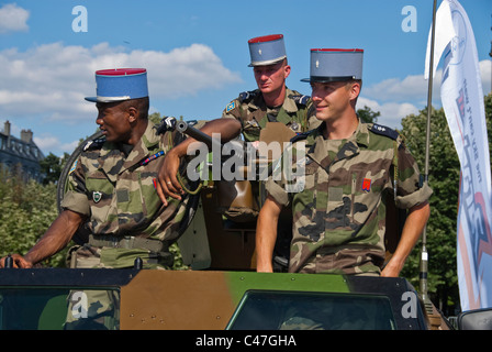 Paris, France, Public Events, National Day, Bastille Day, 14th of July, French Soldiers, Military on Tank - Stock Photo