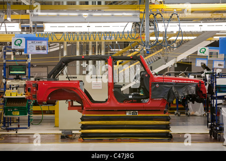 toledo ohio jeep assembly line at a chrysler plant stock photo 34980419 alamy. Black Bedroom Furniture Sets. Home Design Ideas