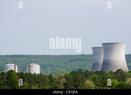 The unfinished Bellefonte Nuclear Power Plant. - Stock Photo