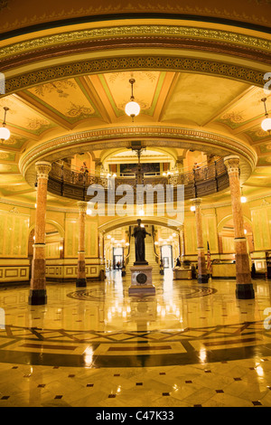 Springfield, Illinois - interior of State Capitol Building - Stock Photo