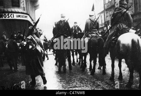 Entry of Russian cavalry in Lviv, 1914 - Stock Photo