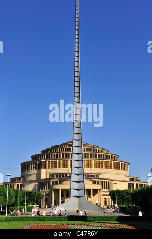 wroclaw, Breslau, Centenary Hall, Jahrhunderthalle, architectural, monument, architect Max Berg, Lower silesia, - Stock Photo