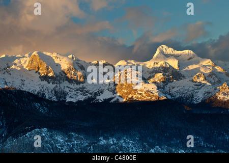 Mount Triglav, the highest peak in Slovenia. View from Vogel. - Stock Photo