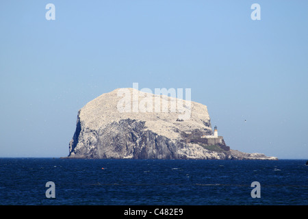View of the Bass Rock from North Berwick, East Lothian, Scotland. - Stock Photo
