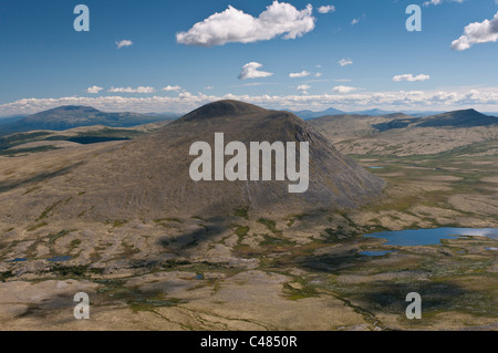 Gipfel im Alvdal Vestfjell, Hedmark, Norwegen, Peaks, Norway - Stock Photo