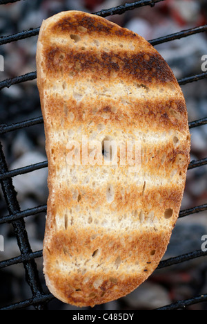 slices,grilled,bread,on,barbecue,toast, - Stock Photo